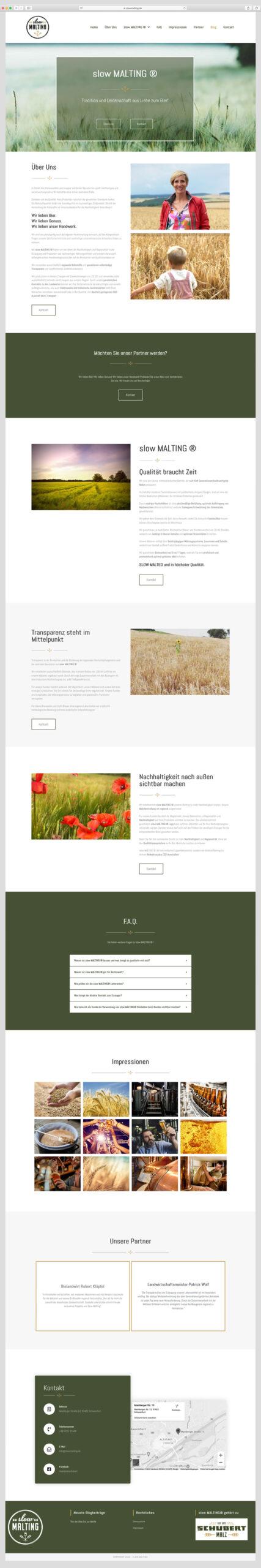 Musterwebsite -Mälzerei Günther Schubert GmbH & Co KG, Madeleine Möhlmann Grafik- und Webdesign aus Hamburg