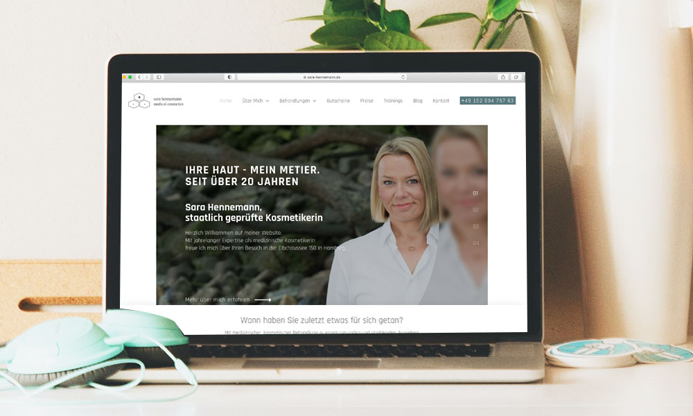 Neue Webseite - Sara Hennemann medical cosmetics