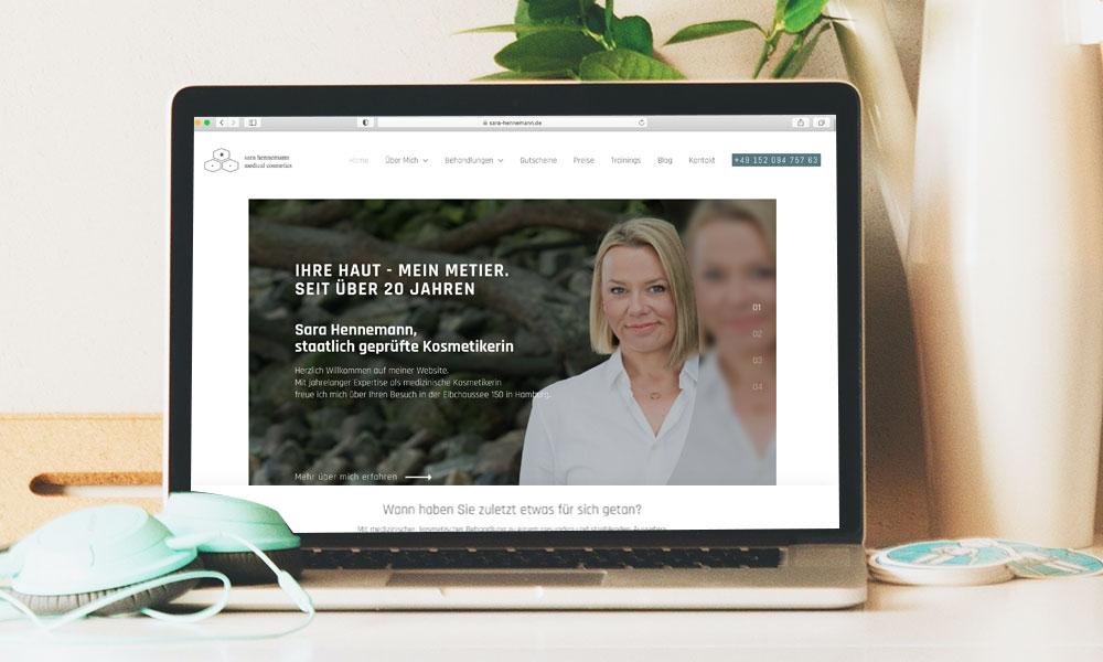 Neue Webseite - Sara Hennemann medical cosmetics